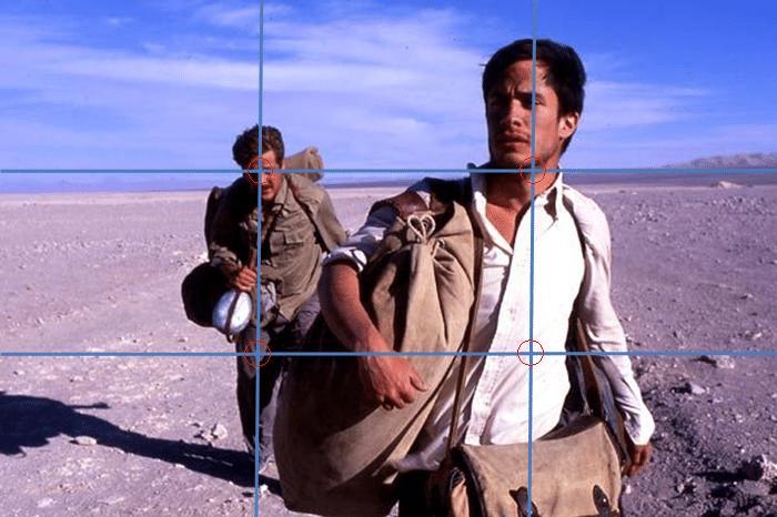 la règle des tiers pour un paysage au cinéma
