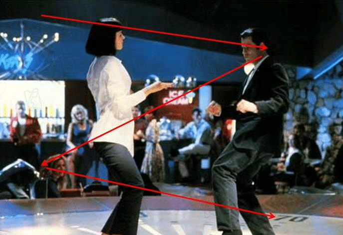 la scène de danse dans le film Pulp Fiction