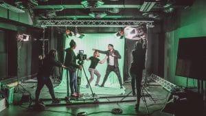 plateau de cinéma, tournage